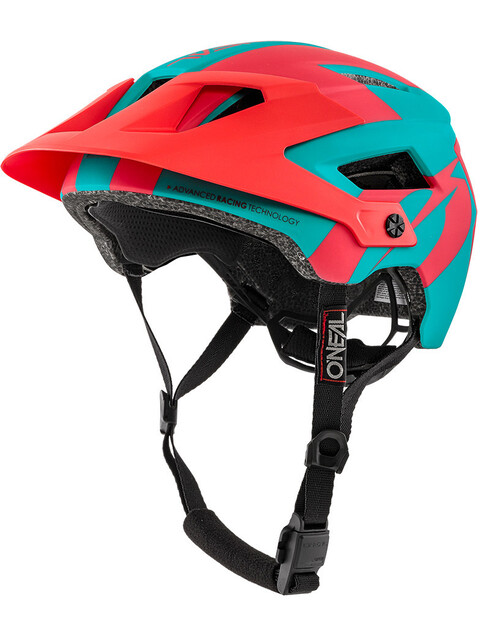 ONeal Defender 2.0 Helmet SLIVER teal/red